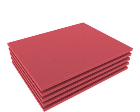 FS010Bred5 5pcs. 345 mm x 275 mm x 10 mm colored foam for Shadowboard red