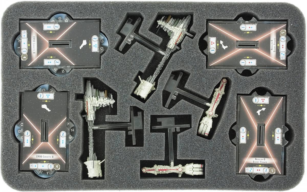 HSBX030BO Schaumstoffeinlage für Star Wars Armada CR90 Korvetten und Nebulon-B-Fregatten