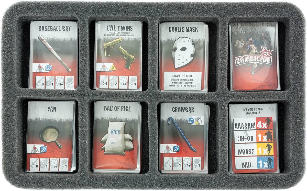 HS035ZC01 35 mm Half-Size Schaumstoff für Zombicide Karten und Zubehör