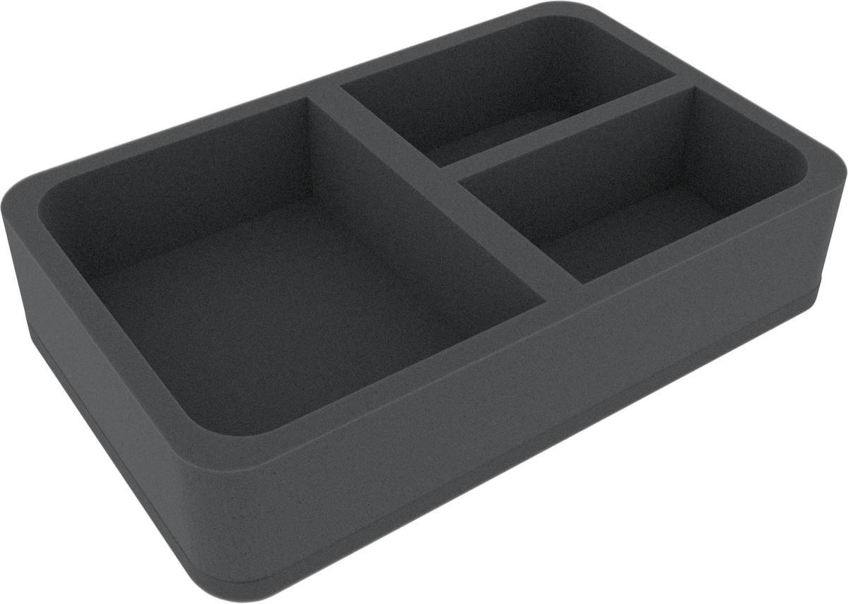 HSCR060BO foam tray with 3 compartments