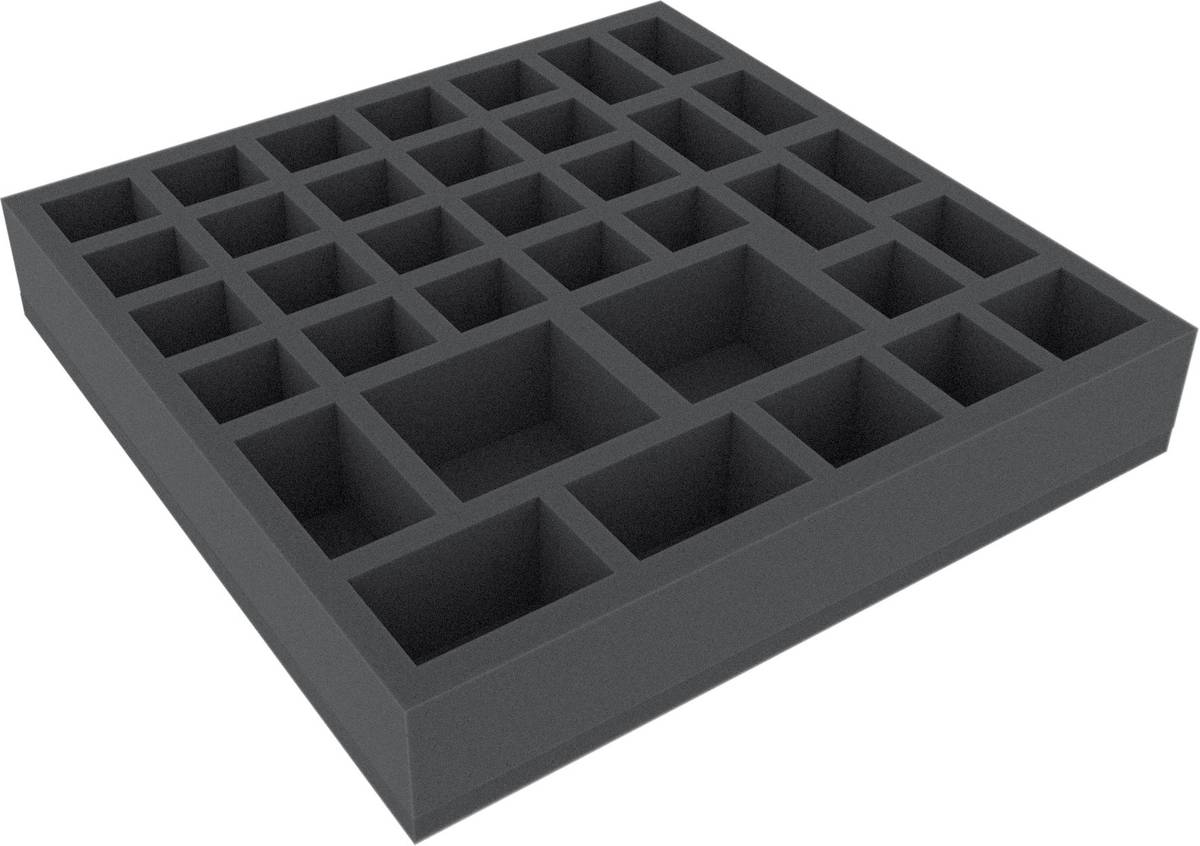 AFCZ050BO 285 mm x 285 mm x 50 mm (2 inches) foam tray for board game boxes