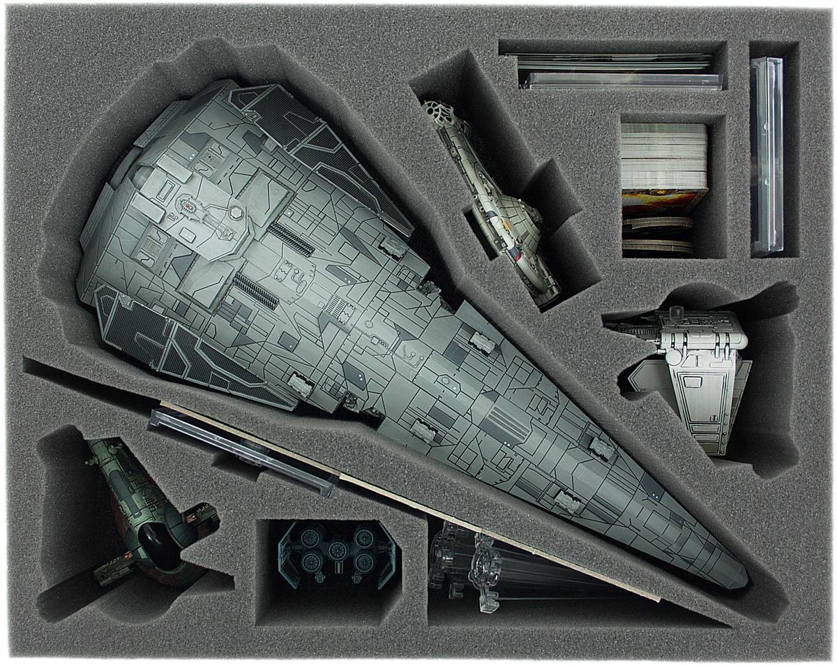 FSDB090BO (3.54 inches) foam tray for Star Wars X-WING Imperial Raider