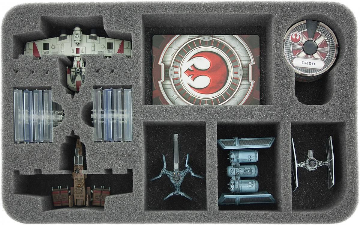 HSDE050BO Schaumstoffeinlage für Star Wars X-WING 2 x K-Wing, Raumschiffe und Zubehör