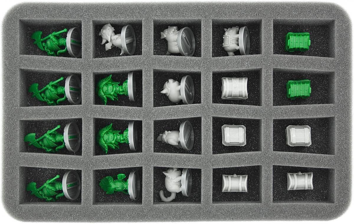 HS035SD01 35 mm Half-Size Schaumstoff für 20 Super Dungeon Explore Figuren