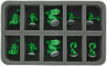 HS050SD02 50 mm Half-Size Foam Tray for 10 Super Dungeon Explore figures