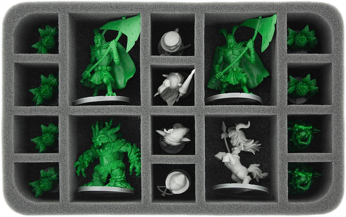 HS060SD03 60 mm Half-Size Foam Tray for 16 Super Dungeon Explore figures