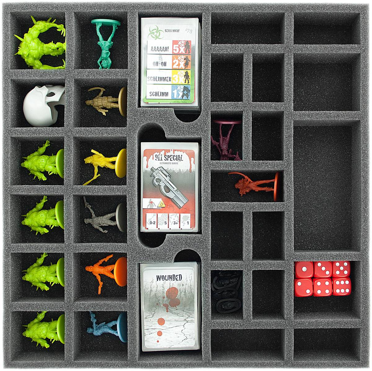 AG041ZC04 41 mm (1.6 inches) foam tray for Zombicide Toxic City Mall Game Box