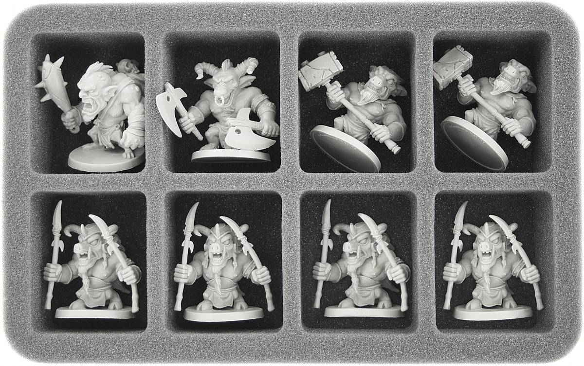 HS050AQ02 50 mm Half-Size Foam Tray for 8 large Arcadia Quest figures