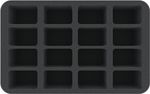 HS035BB02 35 mm (1.4 inches) half-size foam tray for 16 bigger Blood Bowl miniatures