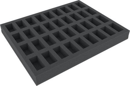 FS035BB04 35 mm (1.38 Inch) full-size foam tray for 36 Blood Bowl miniatures
