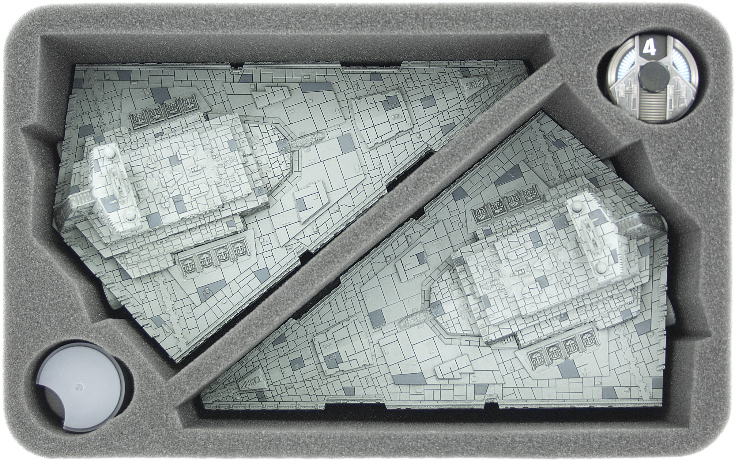 HSDQ075BO Foam Tray For Star Wars Armada Wave 2 Imperial Class Star  Destroyer Or Wave 7 Chimaera