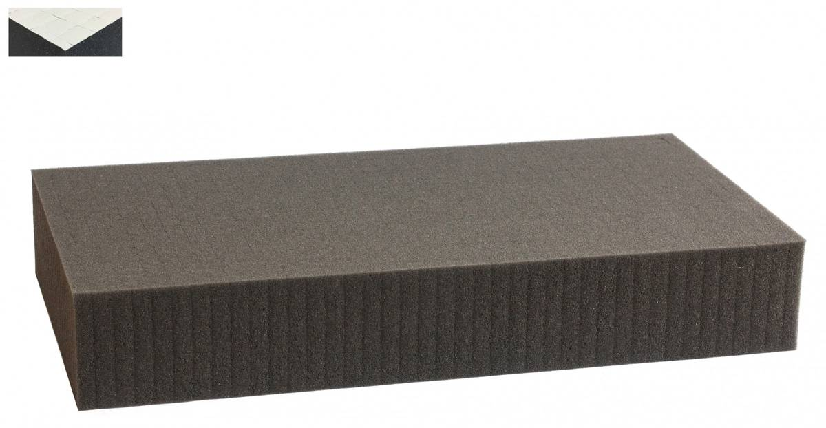 1000 mm x 500 mm x 80 mm self adhesive - Raster 15 mm - Pick and Pluck / Pre-Cubed foam tray