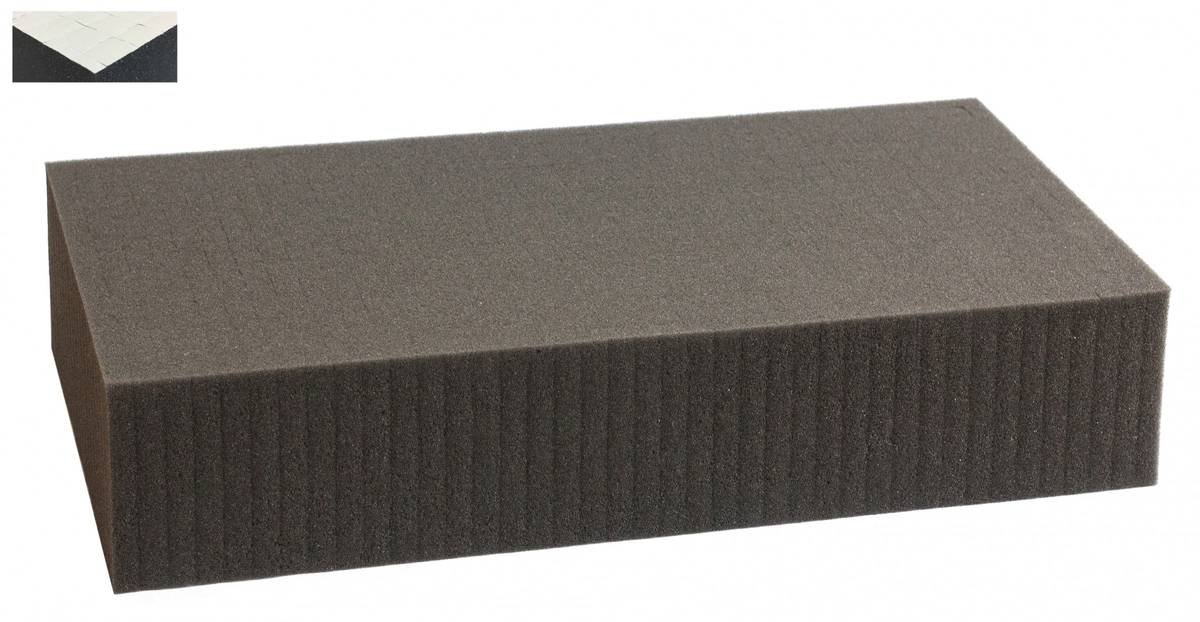 1000 mm x 500 mm x 100 mm self adhesive - Raster 15 mm - Pick and Pluck / Pre-Cubed foam tray