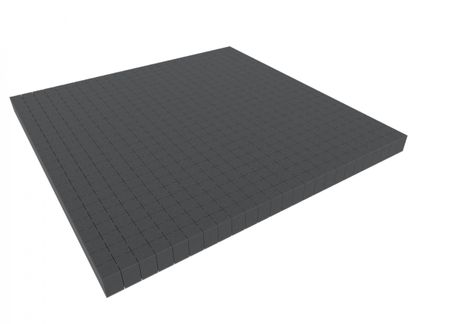 1000 mm x 1000 mm x 30 mm - Raster 20 mm - Pick and Pluck / Pre-Cubed foam tray