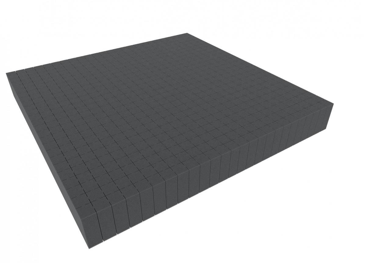 1000 mm x 1000 mm x 60 mm Rasterschaumstoff Würfelschaum - Rasterweite 20 mm