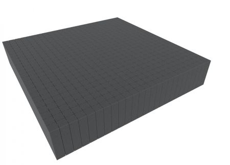1000 mm x 1000 mm x 90 mm - Raster 20 mm - Pick and Pluck / Pre-Cubed foam tray