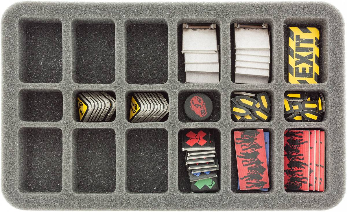 HS035ZC09 35 mm Half-Size Foam Tray for Zombicide accessories