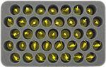 HS050ZC15 50 mm Half-Size Schaumstoff für 37 Zombicide Figuren