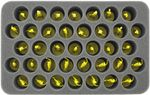 HS050ZC15 50 mm Half-Size Foam Tray 37 Zombicide miniatures