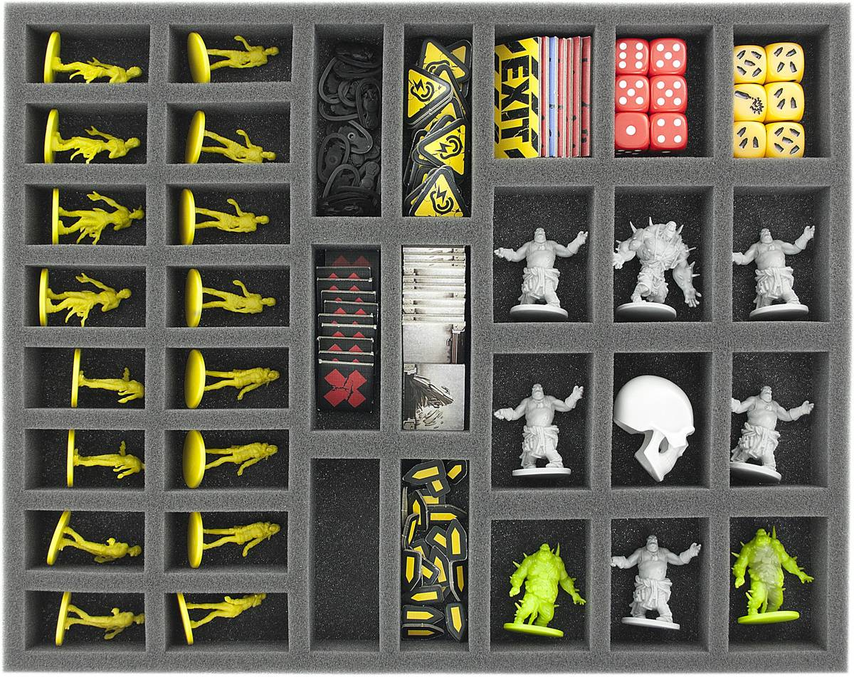 FS035ZC11 35 mm (1.4 inches) full-size foam tray with 34 slots for Zombicide accessories and miniatures