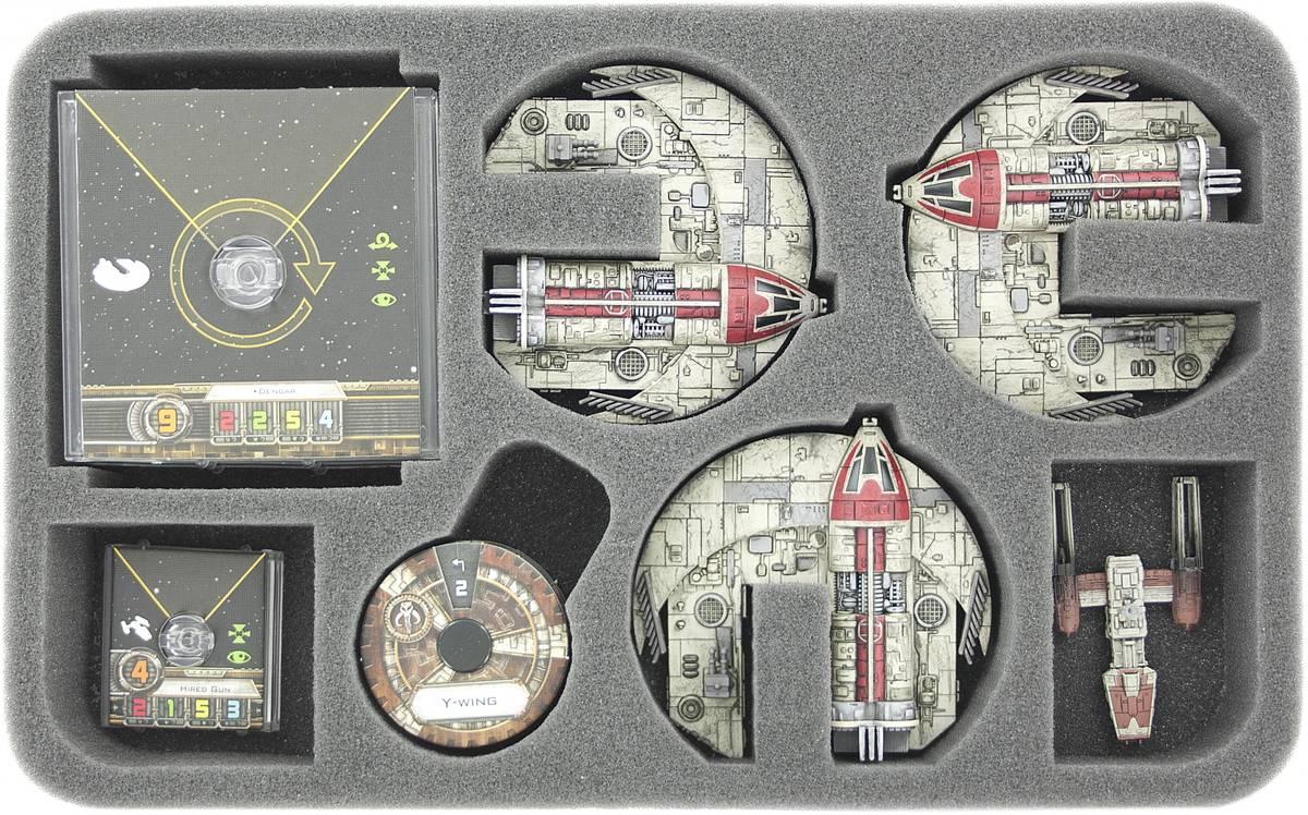 HSEK035BO plateau en mousse pour Star WING X-WING 3 x Punishing One, navires et accessoires