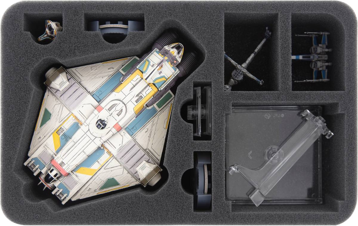 HSEJ065BO Schaumstoffeinlage für Star Wars X-WING Ghost, Raumschiffe und Zubehör