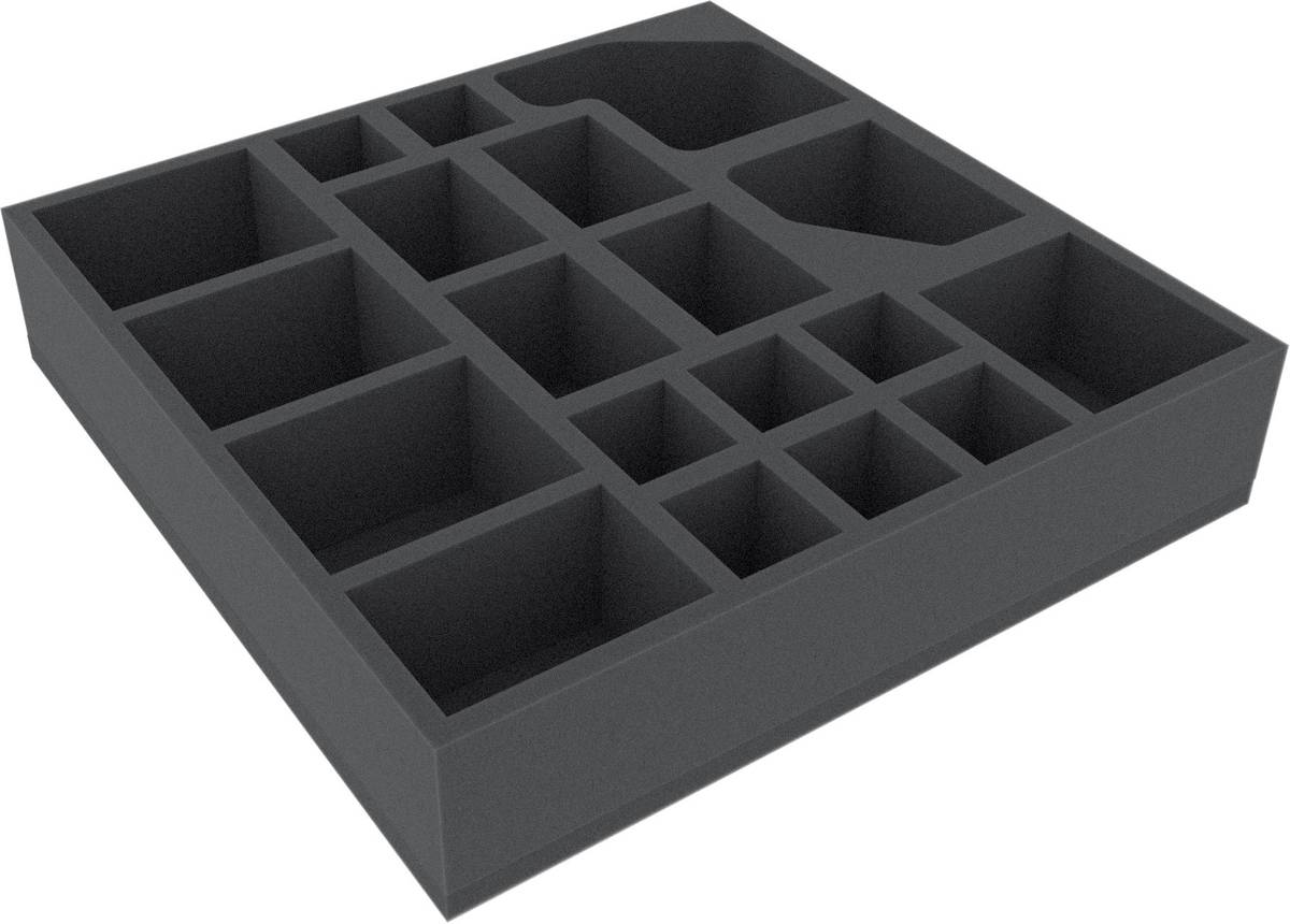 AFED060BO 285 mm x 285 mm x 60 mm foam tray for board game boxes