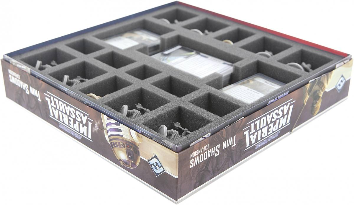AS035IA10 35 mm foam tray for the Star Wars Imperial Assault - Twin Shadows board game box