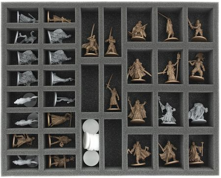 FS040ZC17 40 mm full-size foam tray with 34 slots for Zombicide accessories and miniatures