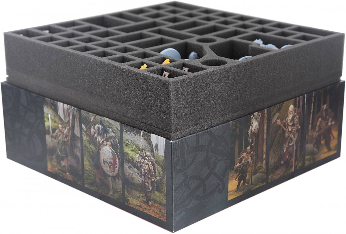 Feldherr foam tray set for Blood Rage + Expansions + Kickstarter Exclusives