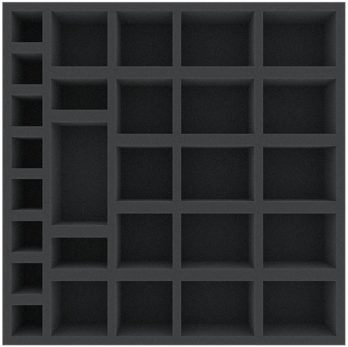 AFEN051BO 285 mm x 285 mm x 51 mm (2 inches) foam tray for board game boxes