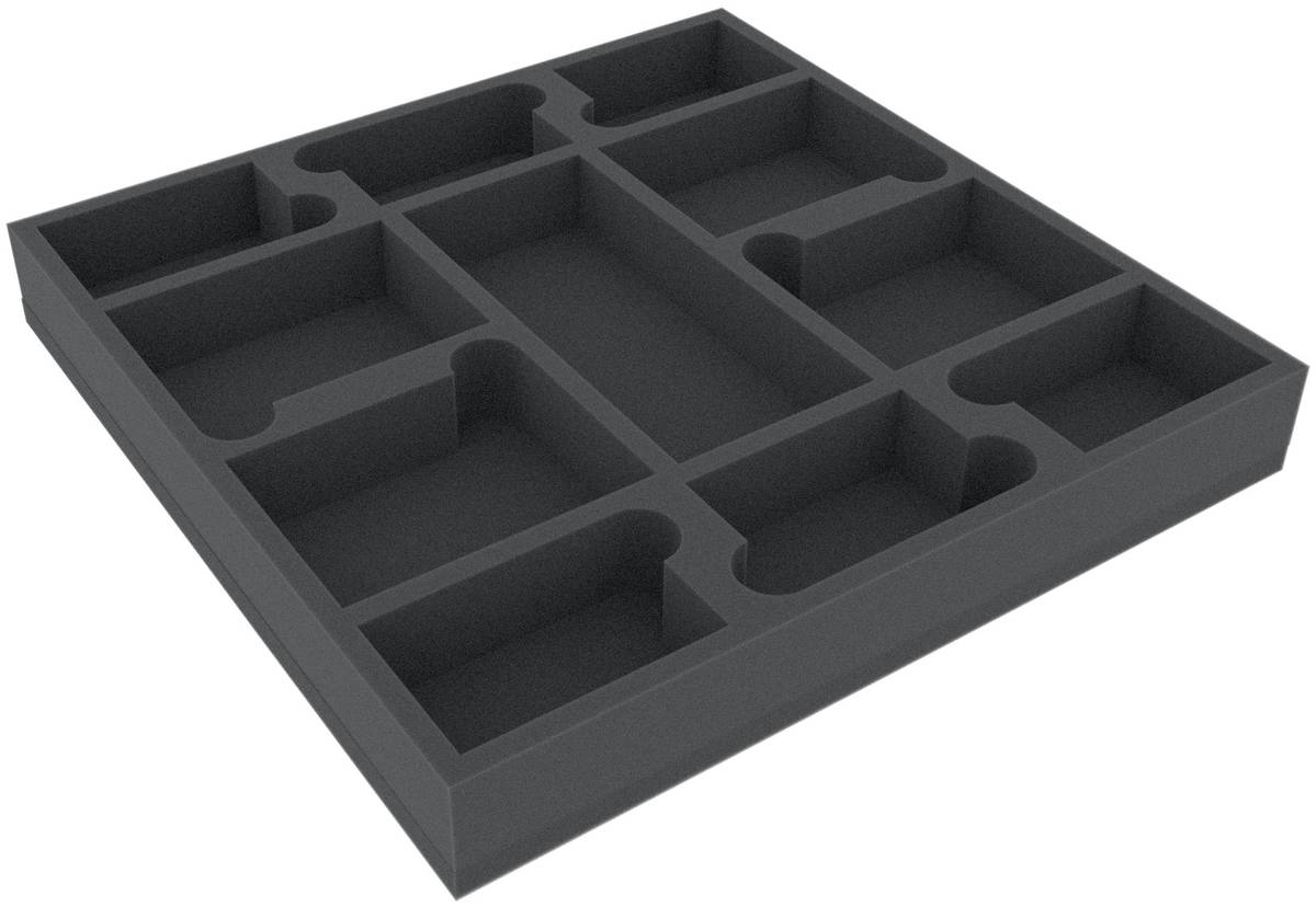 AGEQ040BO 295 mm x 295 mm x 40 mm foam tray for board game boxes