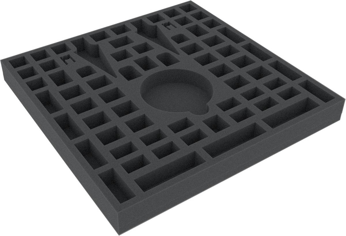 AFEU030BO 285 mm x 285 mm x 30 mm foam tray for board game boxes