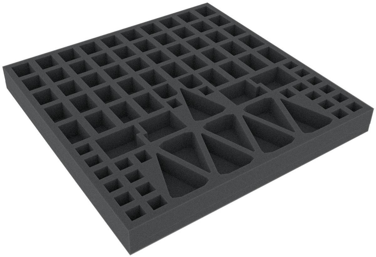 AFEV030BO 285 mm x 285 mm x 30 mm foam tray for board game boxes