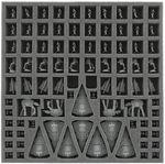 AF030RE02 30 mm Schaumstoffeinlage mit 86 Fächern für Star Wars Rebellion Brettspielbox
