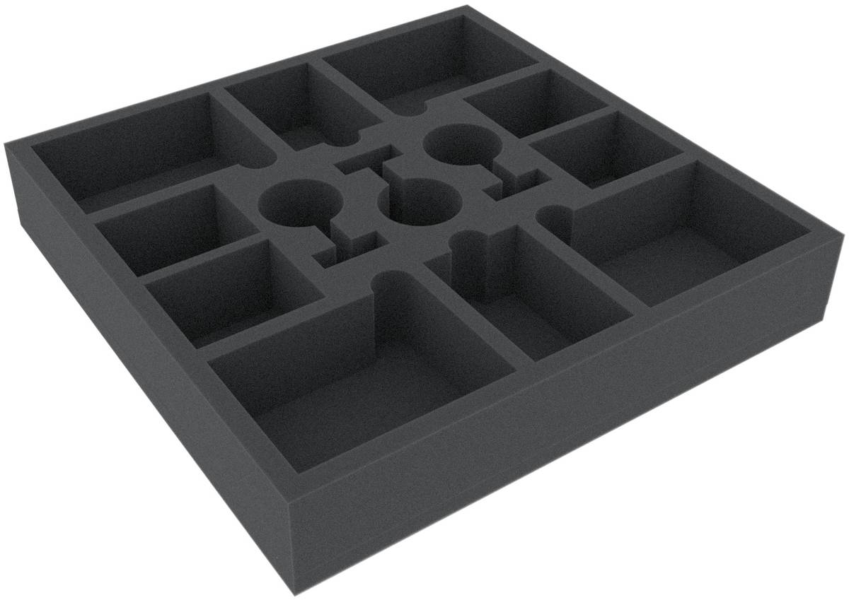 AFEW050BO 285 mm x 285 mm x 50 mm foam tray for board game boxes