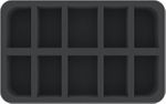 HS050BT04 50 mm (2 inches) half-size foam tray with 10 slots for huge BattleTech Mechs