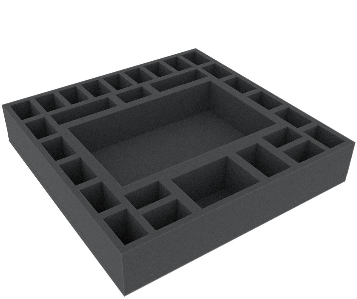 AGFC055BO 295 mm x 295 mm x 55 mm (2.16 inches) foam tray for board game boxes