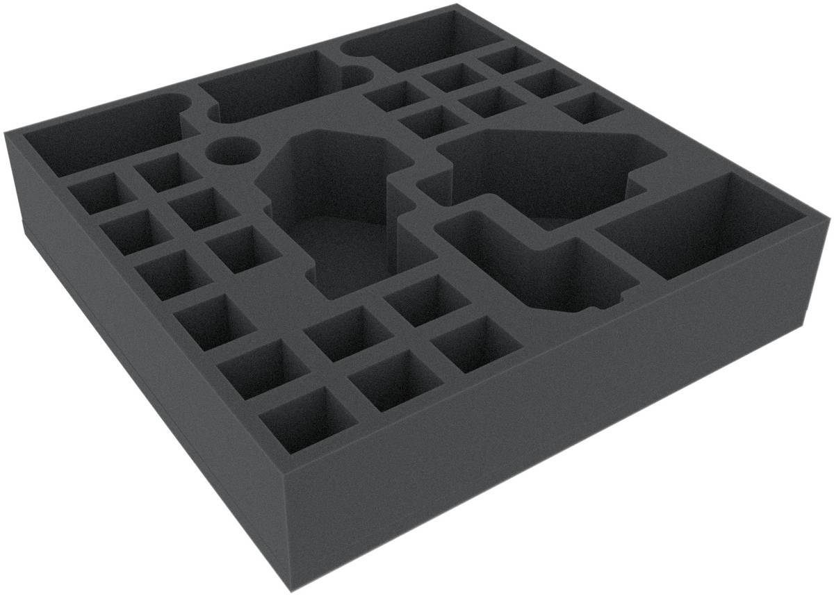 AGFD065BO 295 mm x 295 mm x 65 mm (2.56 inches) foam tray for board game boxes