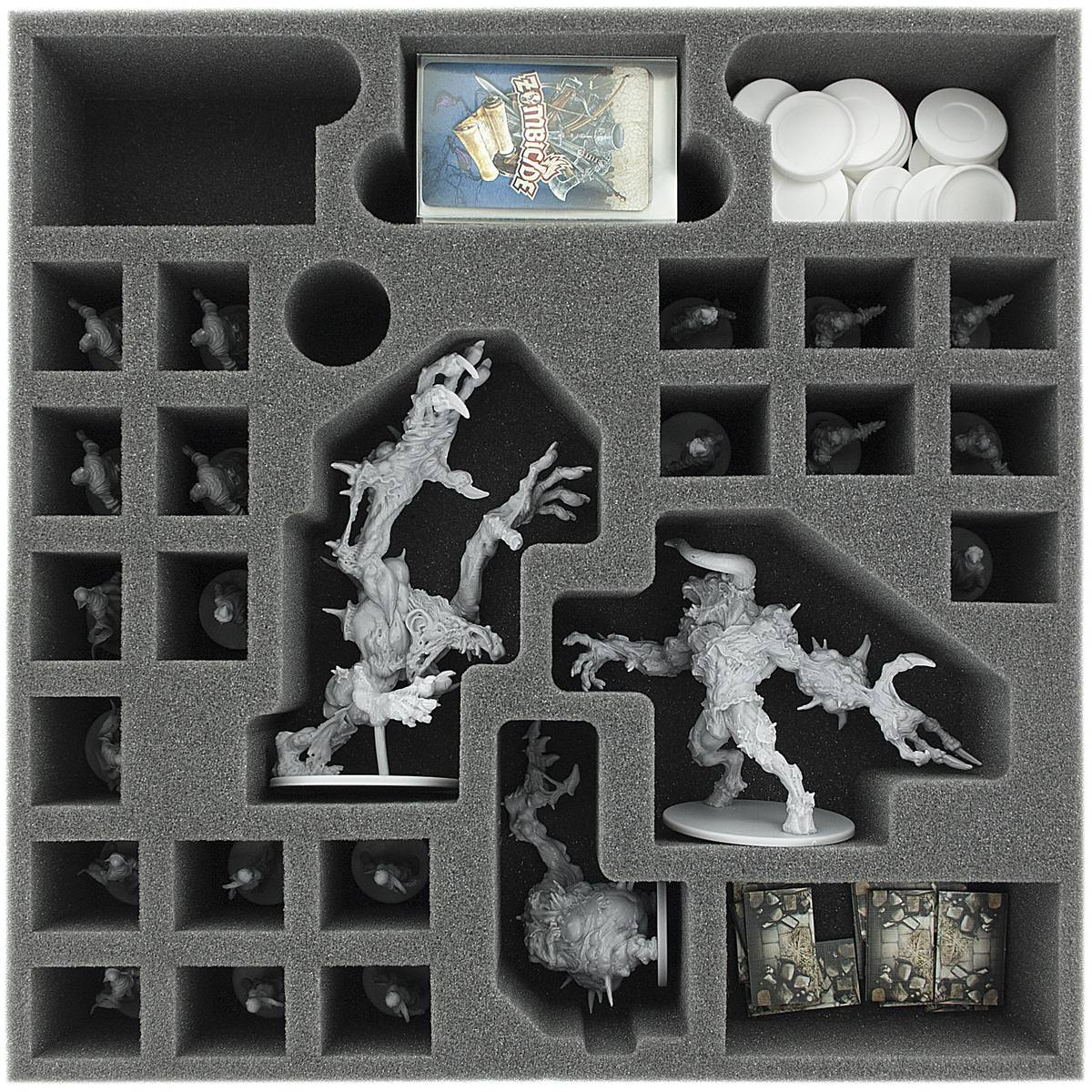 AG065ZC19 65 mm (2.56 inches) foam tray for Zombicide Black Plague Monsters and NPC's