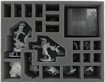 FSFH085BO 85 mm (3.35 inch) full-size foam tray with 22 compartments for all Zombicide Black Plague Monsters