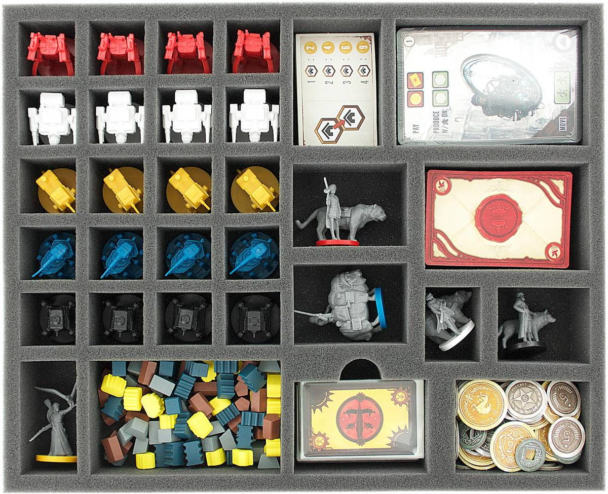 AVFK045BO 45 mm foam tray for Scythe board game box with 31 compartments