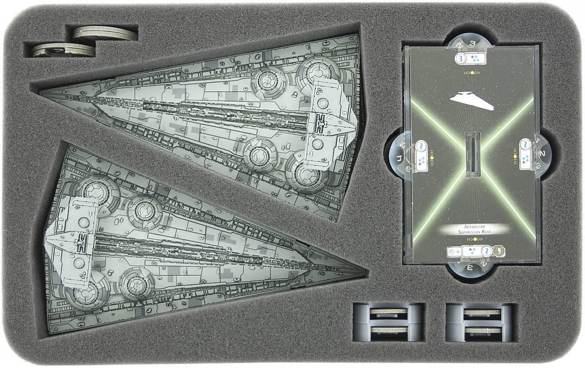 HSFT045BO Schaumstoffeinlage für Star Wars Armada Wave 4 Interdictor