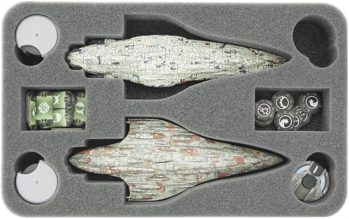 HSFU040BO Schaumstoffeinlage für Star Wars Armada Wave 4 MC80-Sternenkreuzer der Liberty-Klasse und Wave 2 Heimat Eins (Home One)