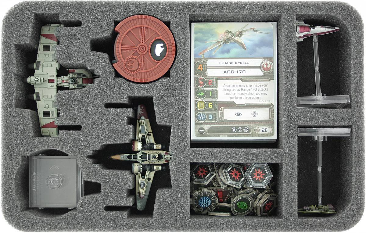 HSGB050BO foam tray for Star Wars X-WING 2 x ARC-170 or K-Wing, Ships and accessories