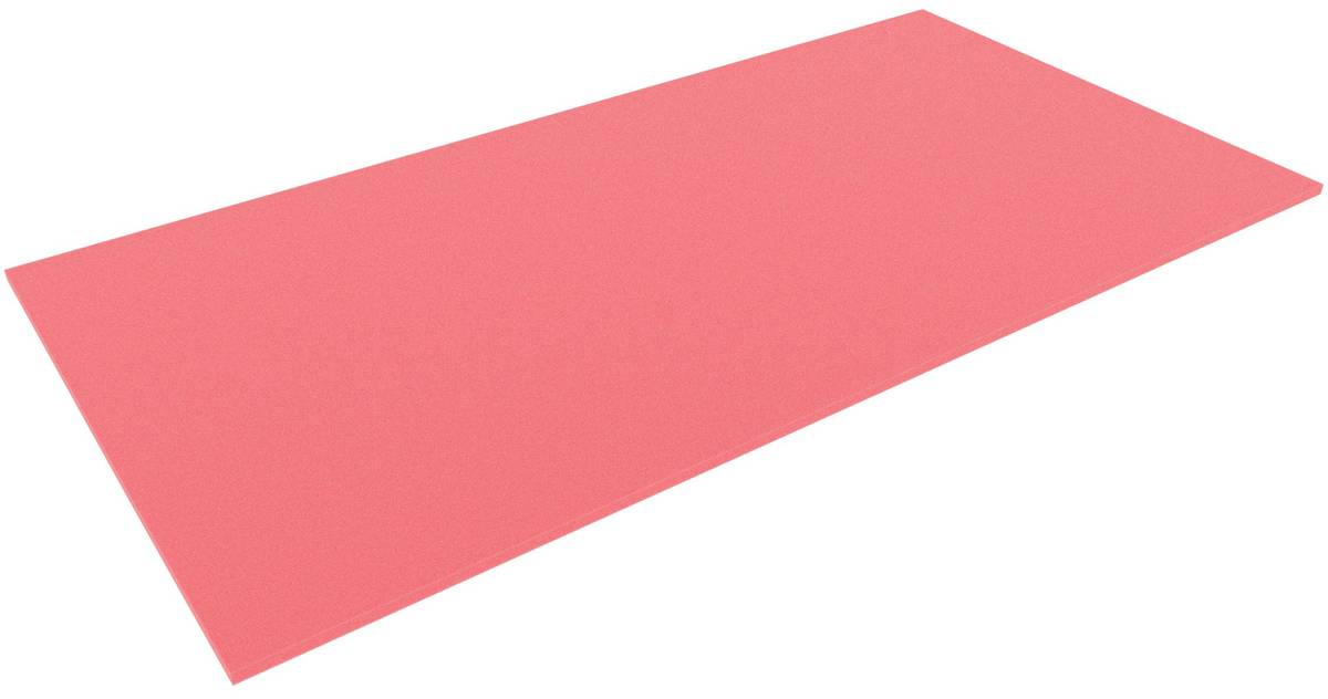 1000 mm x 500 mm x 10 mm foam sheet / cutting, red