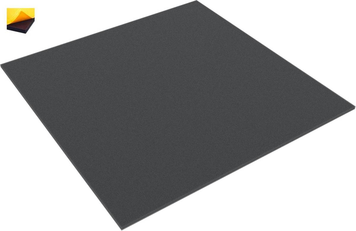 300 mm x 300 mm x 10 mm foam topper / bottom / layer - self-adhesive