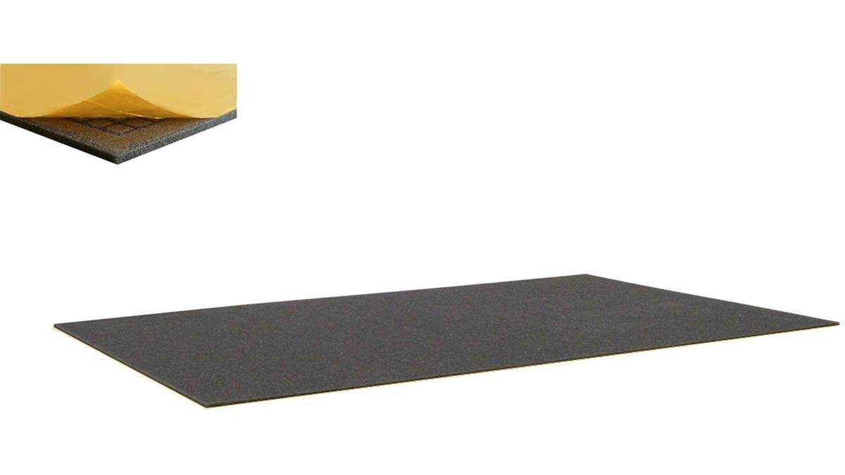 500 mm x 250 mm x 10 mm thin foam pad - one side self-adhesive