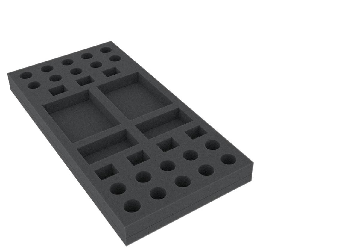 AUGN025BO 295 mm x 147,5 mm x 25 mm (1.00 inches) foam tray for board game boxes