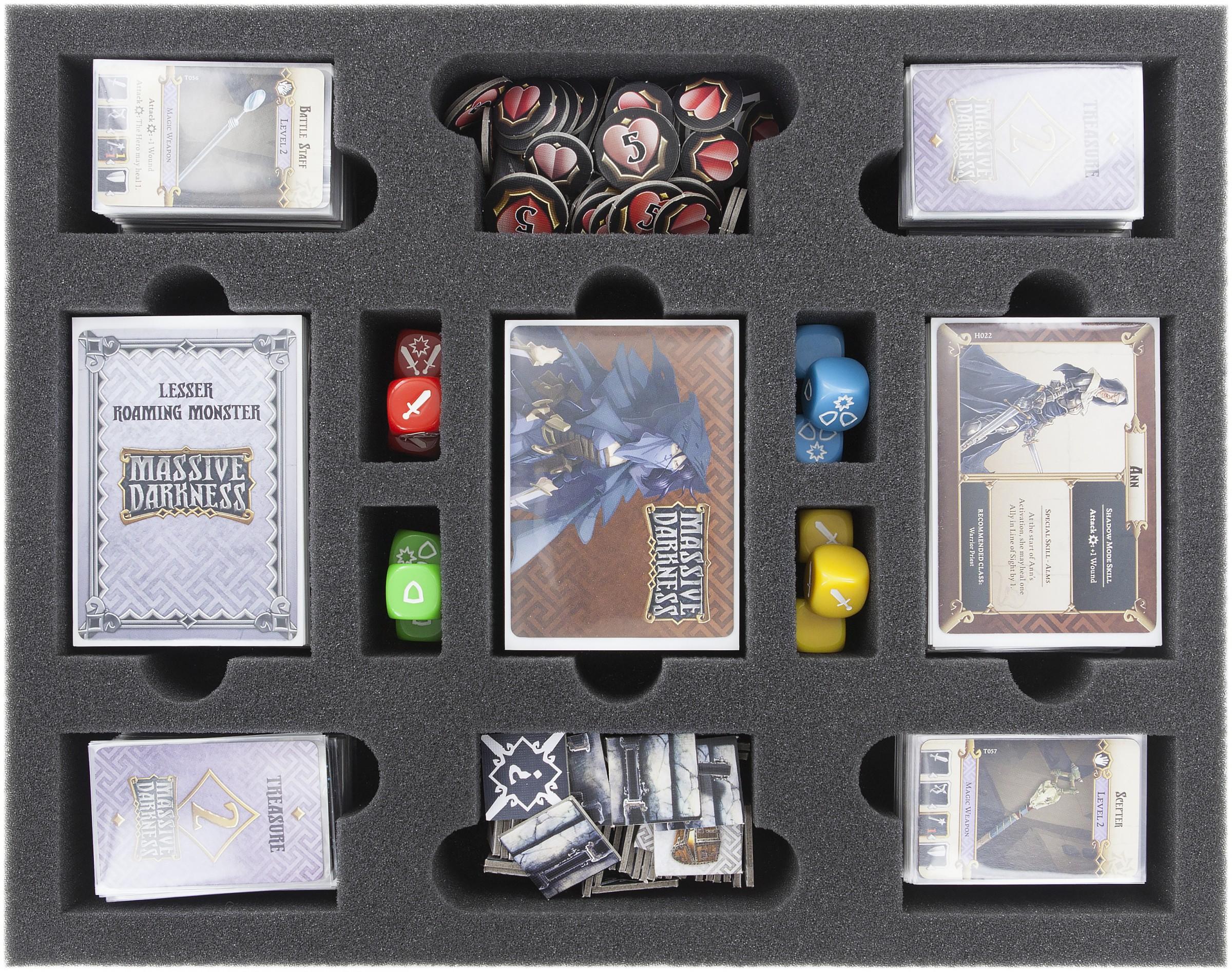Feldherr Schaumstoff-Set als Zubehörden kompletten Massive Darkness Kickstarter